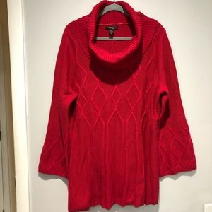 Style & Co knit tunic cowl neck sweater